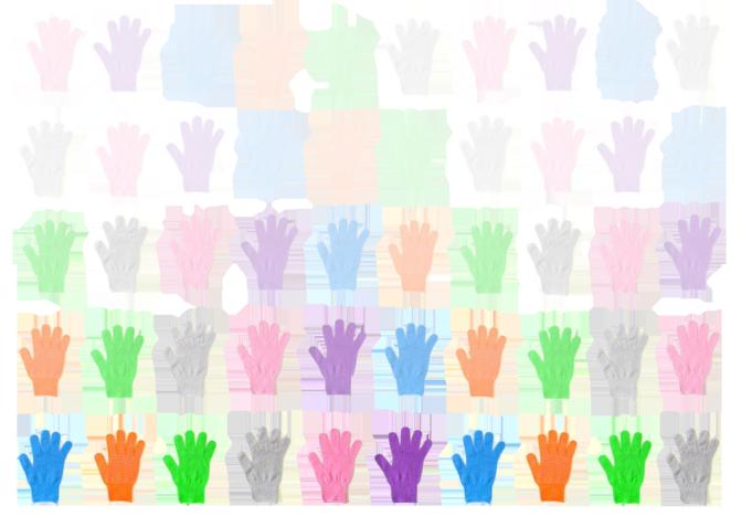 手袋たち 背景切取'' 幅1000px